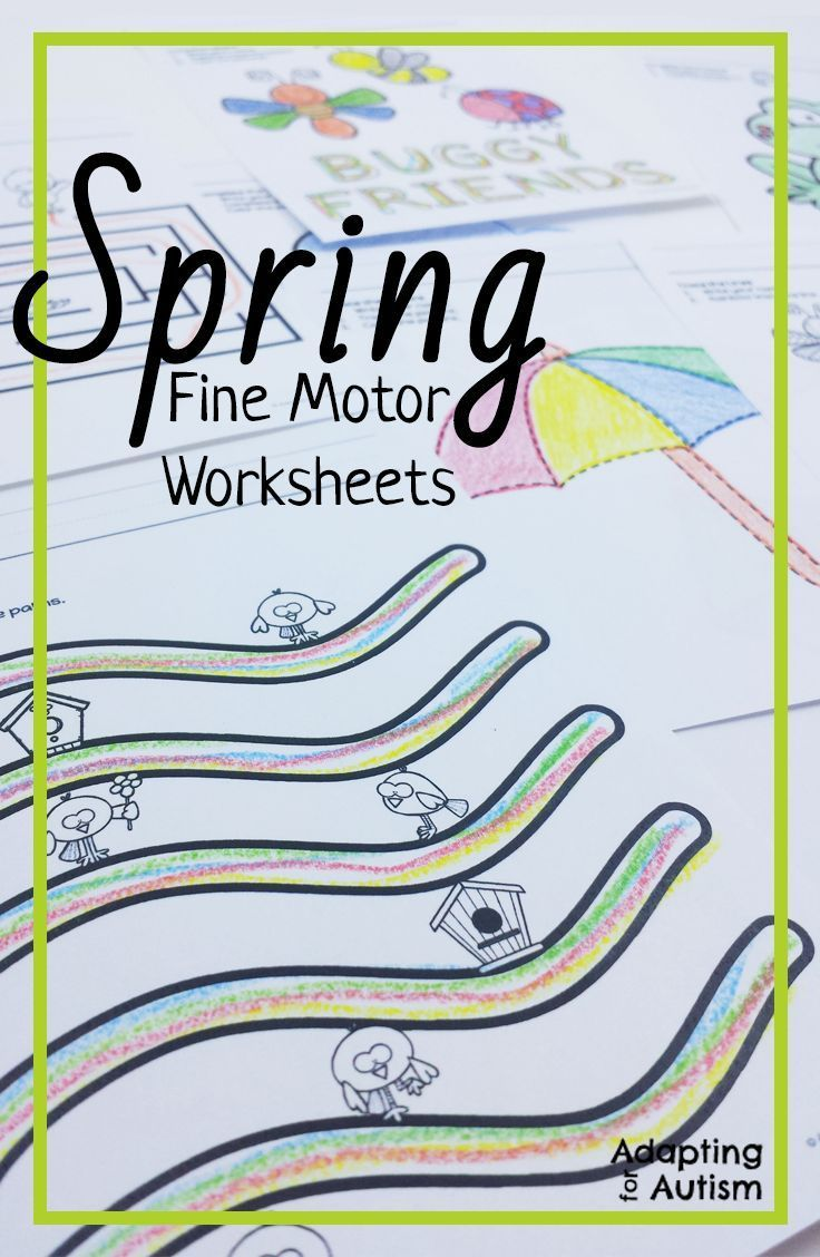 Spring Fine Motor Worksheets for Special Education and Autism ...