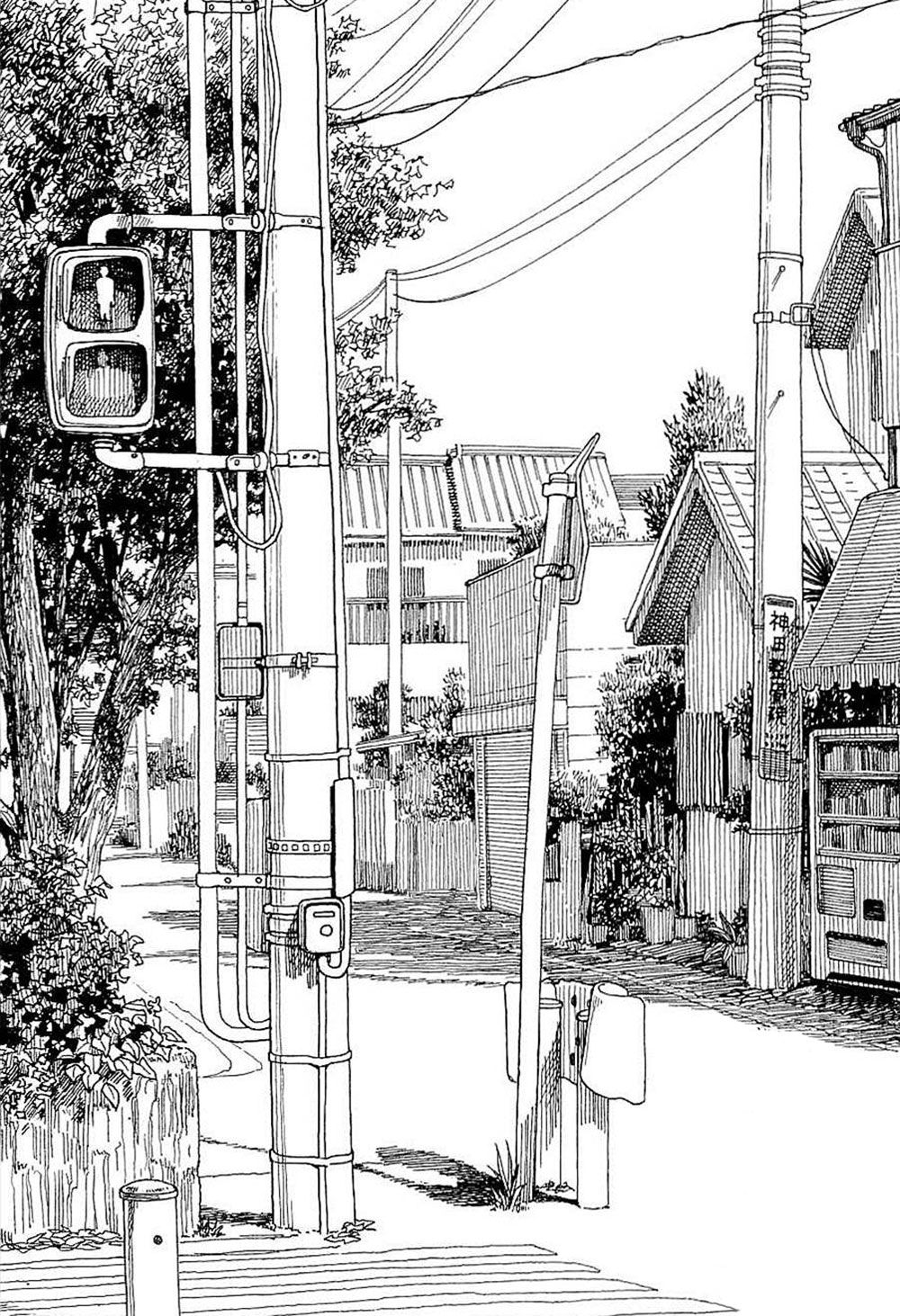Kiyohiko Azuma Artnau Bocetos Arquitectonicos Paisaje Urbano Arte En Perspectiva