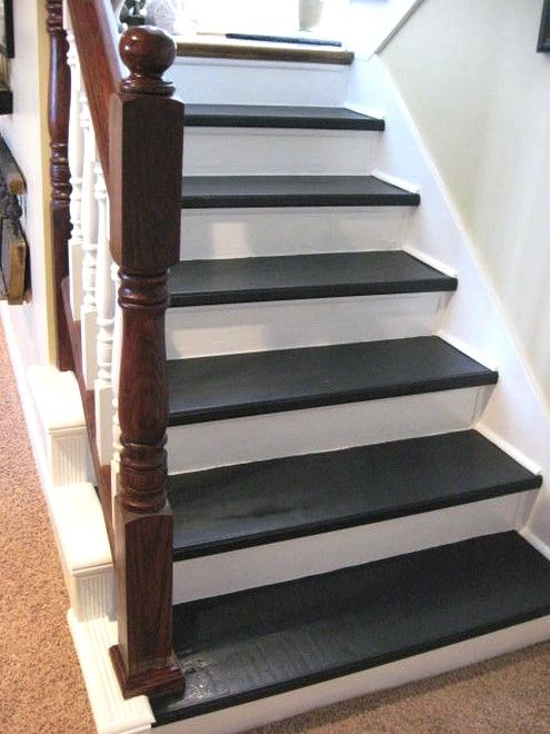 Cheap Basement Remodeling Ideas Stair Remodel Refinish Stairs Diy Stairs