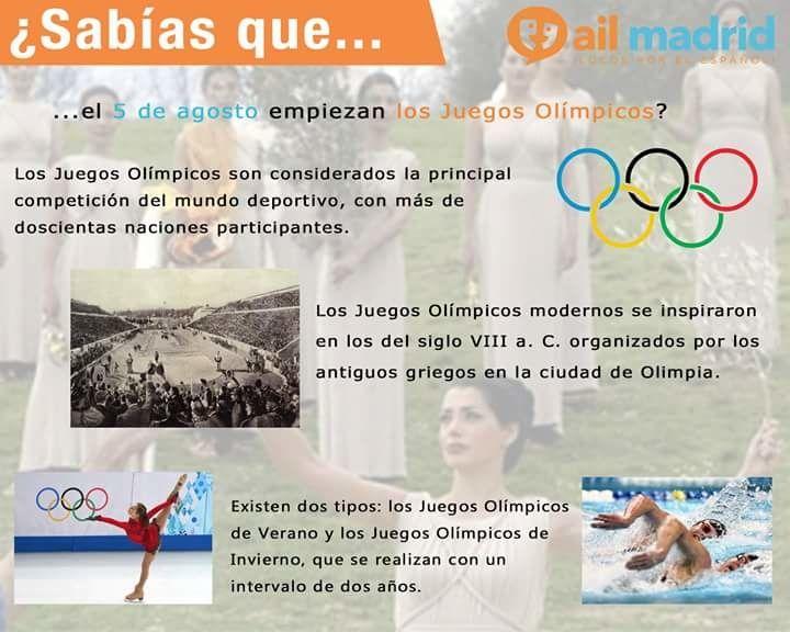 Vocabulario de Los juegos olimpicos