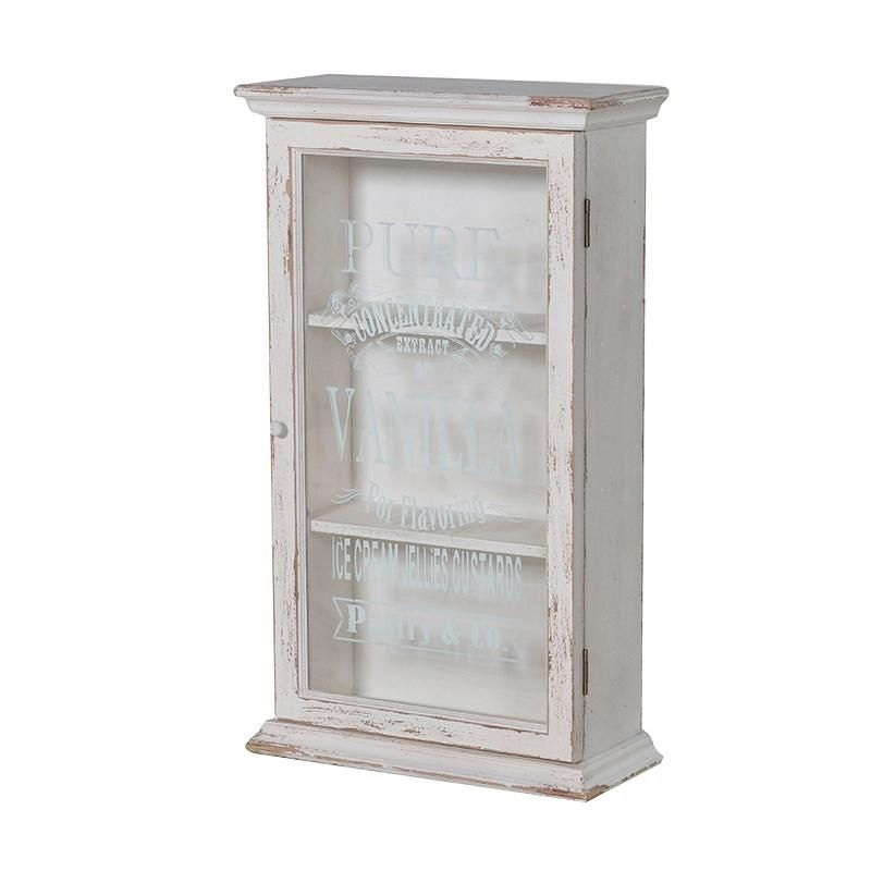 Pure Vanilla Script Glazed Wall Cabinet This Is A Shabby Chic Style Bathroom Bedroom Wall Cabinet Wall Cabinet French Style Furniture Bedroom Wall Cabinets