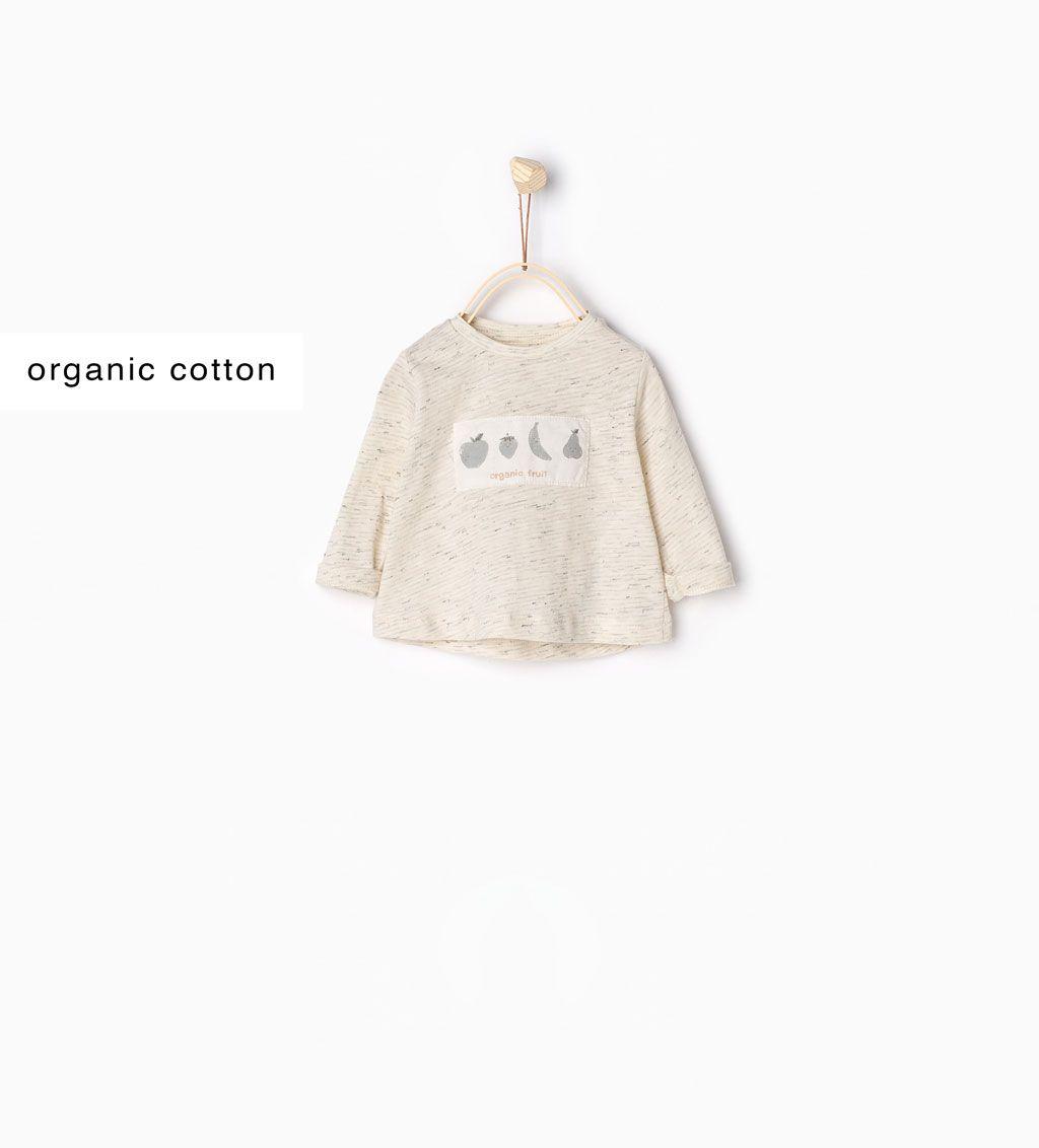 Immagine 1 di t-shirt in cotone organico con frutta da Zara