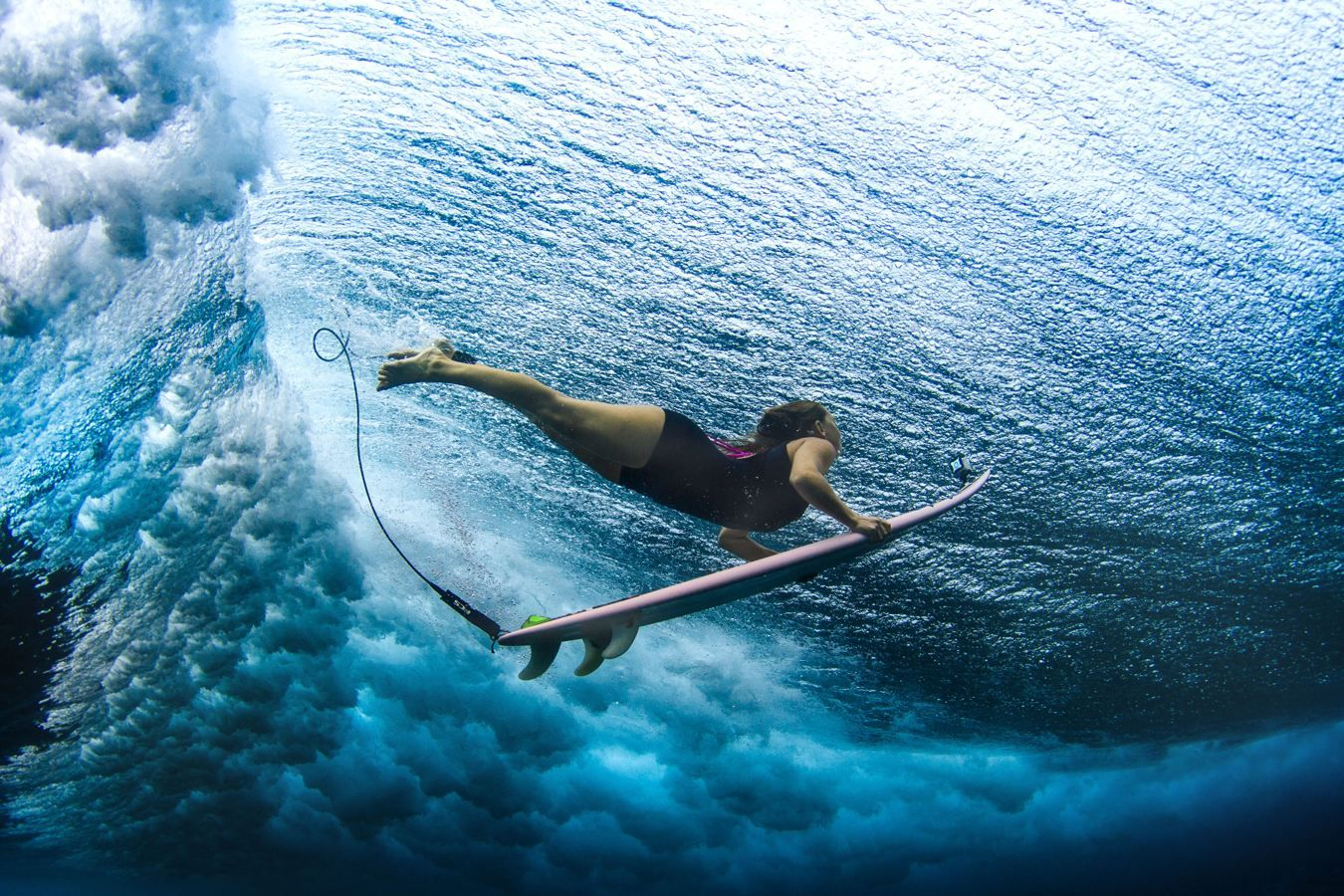 underwater surfer girl desktop - photo #20