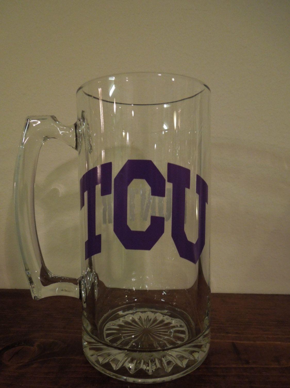 Texas Christian University Sport Beer Mug 12 50 Via Etsy Tcu Horned Frogs Texas Christian University Beer