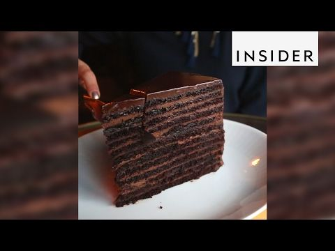Strip House S Towering 24 Layer Chocolate Cake Food Network