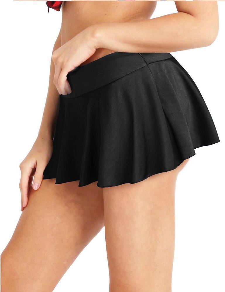 50cab84a51f7c0 Women's Mesh Sheer Transparent Micro Short Mini Skirt Night Club ...