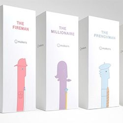 Packaging And Branding For The Smile Makers Vibrators The Fireman The Frenchman The Millionaire And The Tennis Coach Branding Packaging Design Fireman
