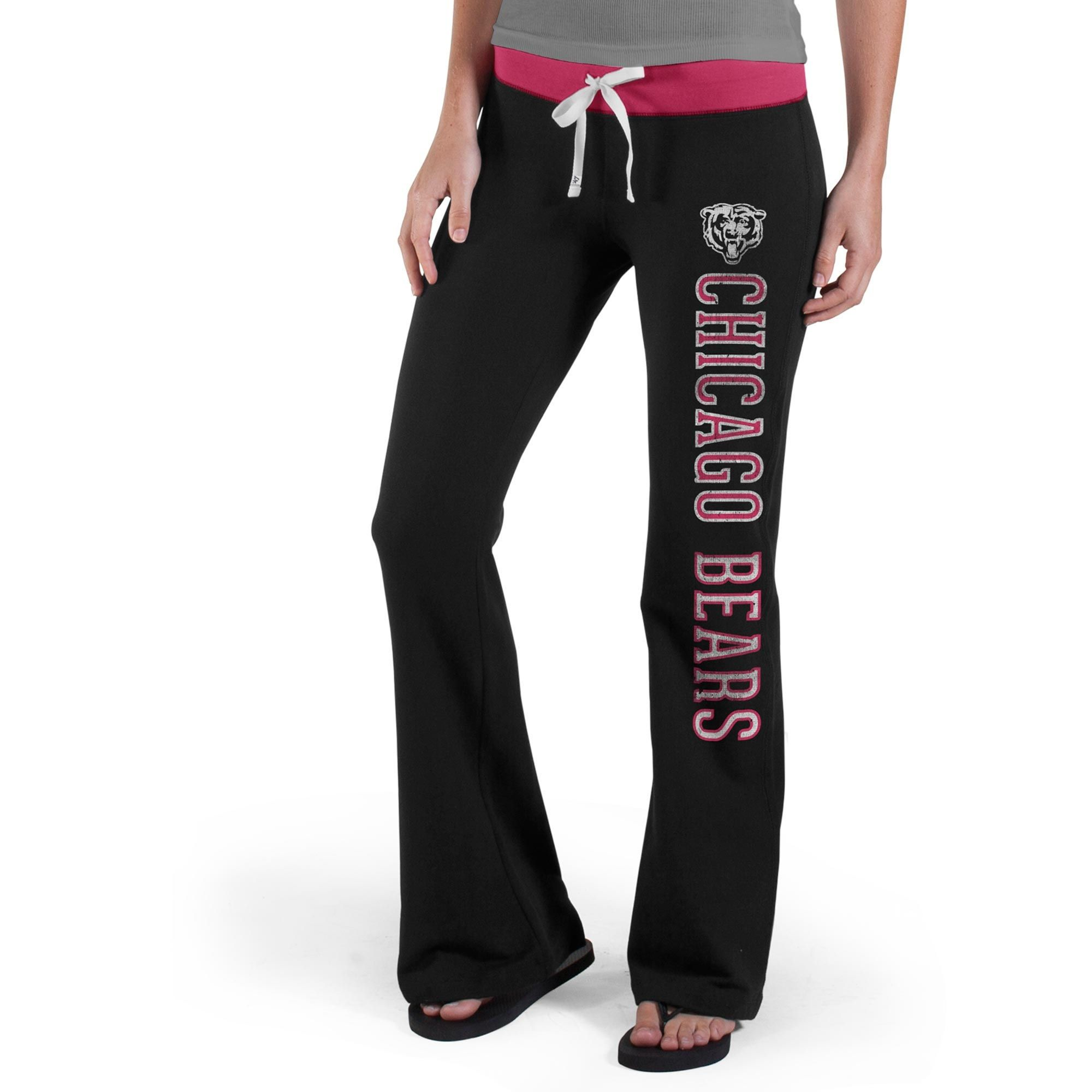 959157e9 47 Brand Chicago Bears Women's Black/Pink Powerstretch Pants | Da ...