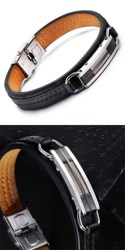 Stylish Mens Bracelet Delphinus 1971202 Men S Leather Bracelets