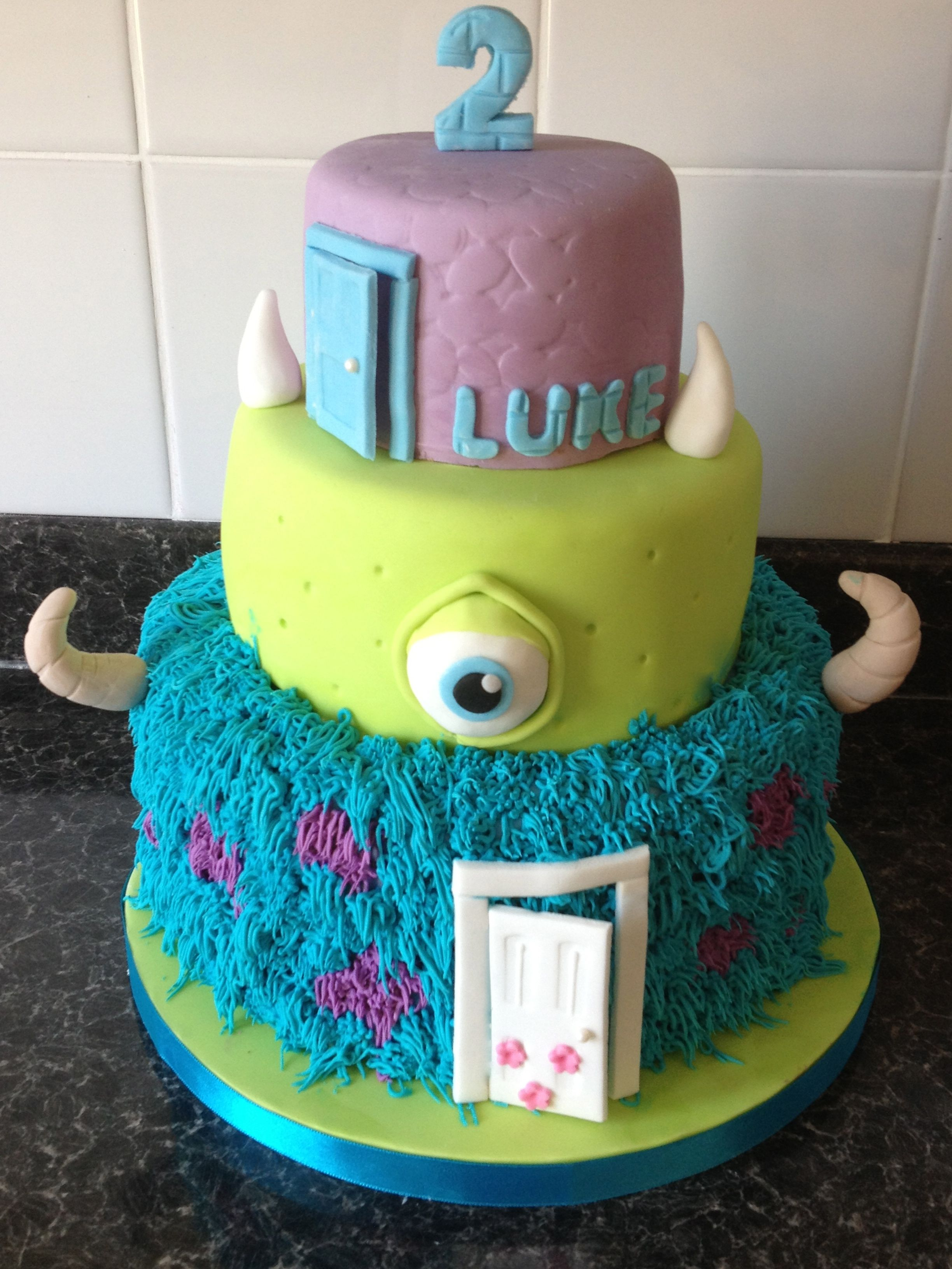monsters inc birthday cake cakes Pinterest Birthday cakes