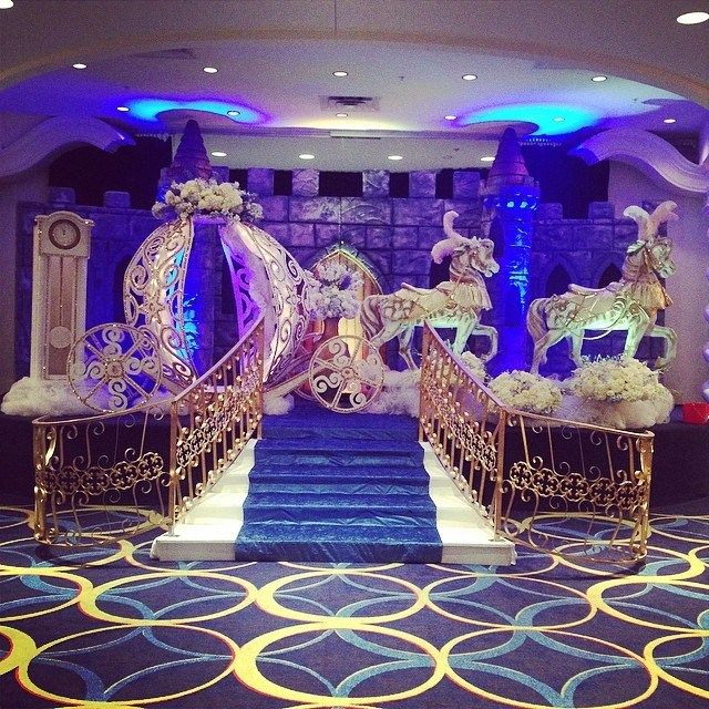 cinderella themed venue decorations for a happily ever