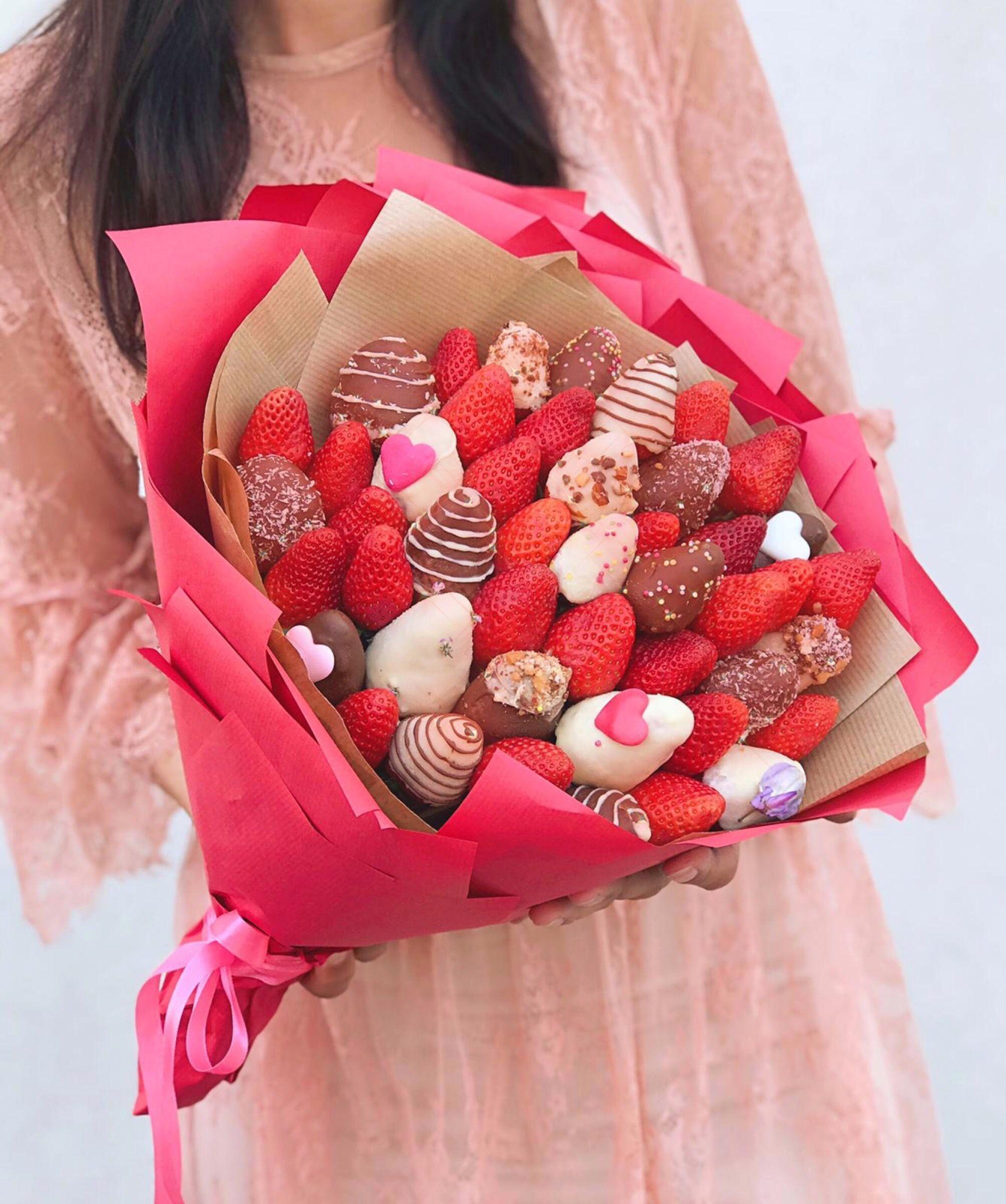 Audacieux Bouquet de fraises au chocolat en 2020 | Fraise au chocolat GN-85