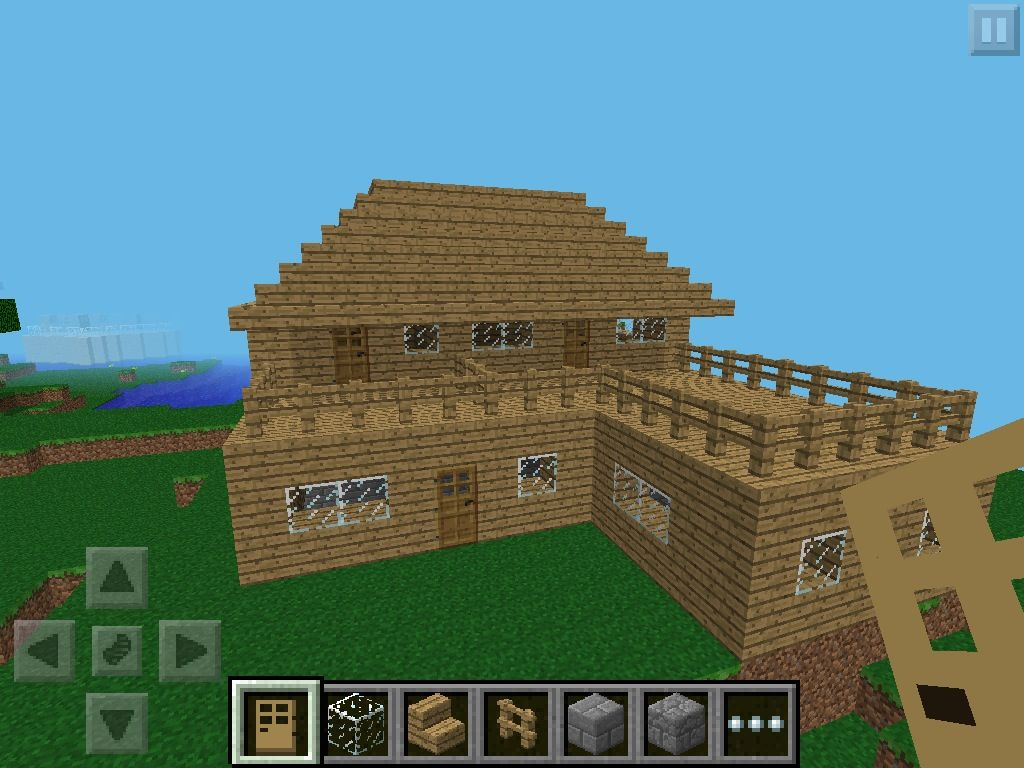 How To Build A House Minecraft Pocket Edition Minecraft Houses Minecraft Modern Cool Minecraft Houses