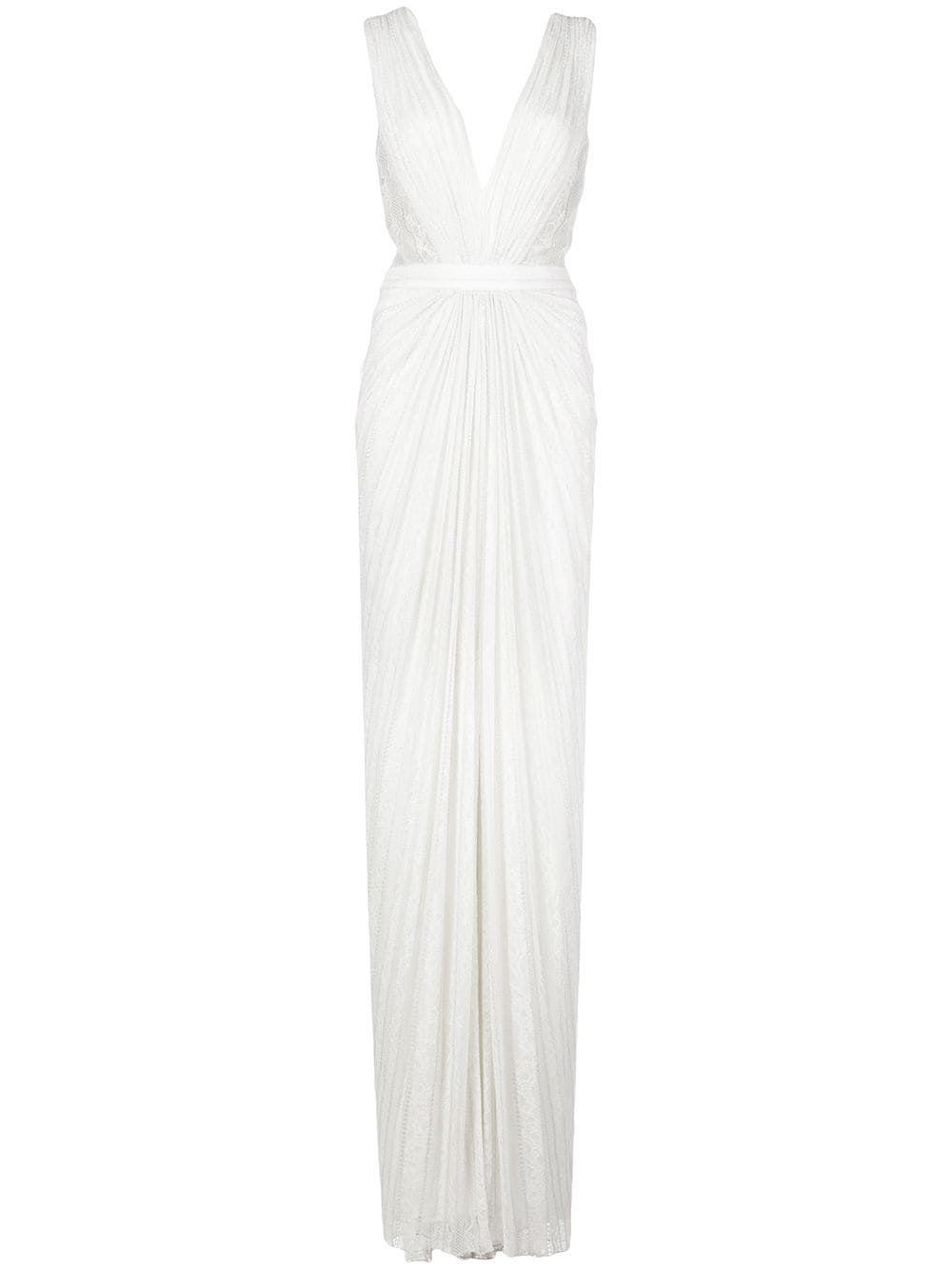 Tadashi Shoji Killian Lace Dress Farfetch In 2021 Dresses White Bridesmaid Dresses Lace White Dress [ 1334 x 1000 Pixel ]