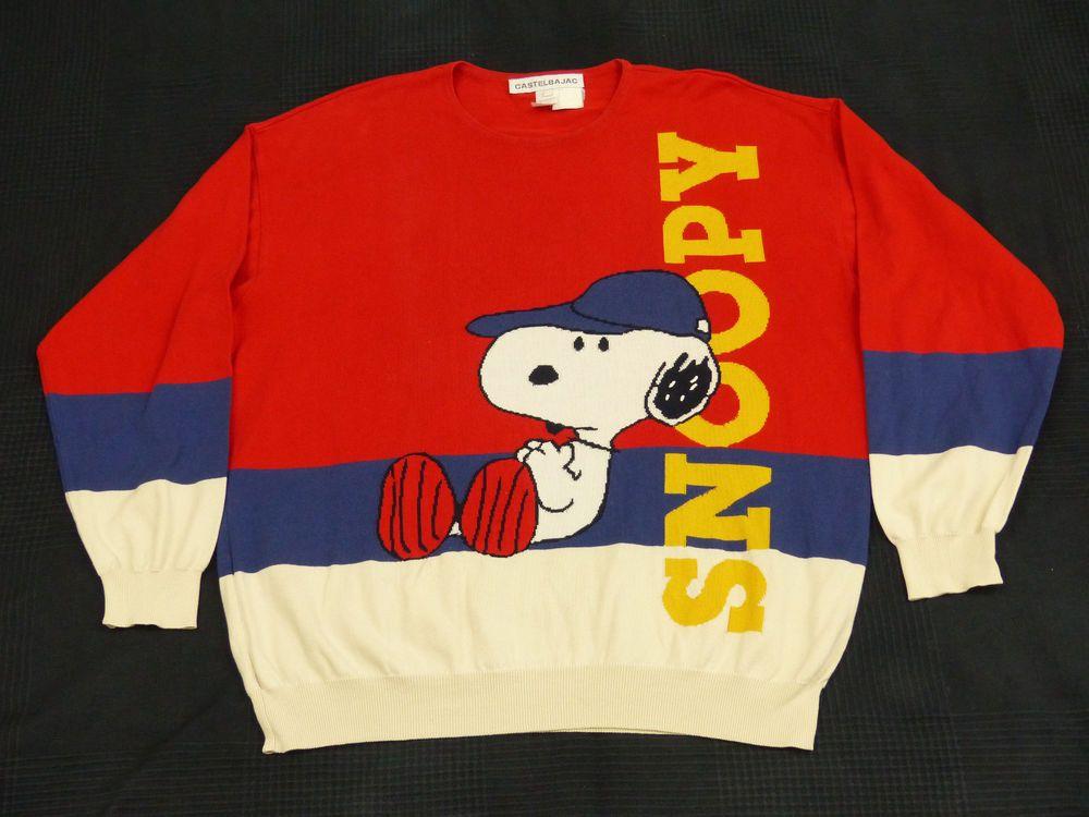 Iceberg Castelbajac Stricki Pullover Snoopy Peanuts Charlie Brown