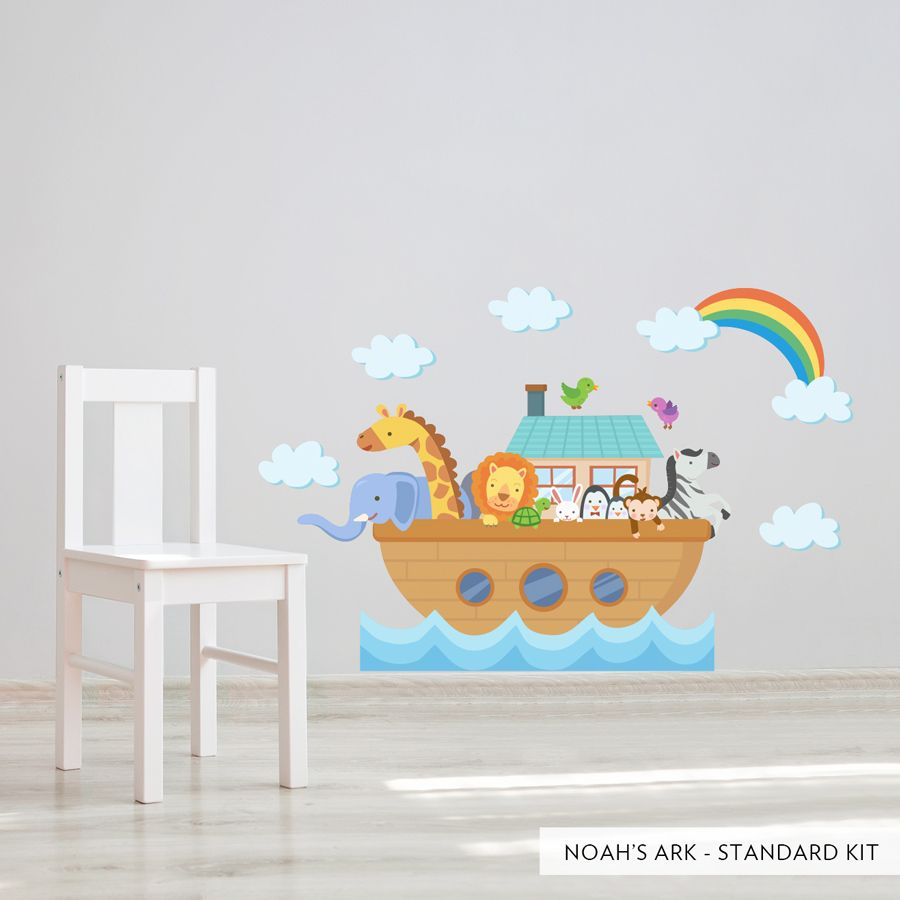 noah s ark printed wall decal nursery wall decals on wall stickers for kids id=43105