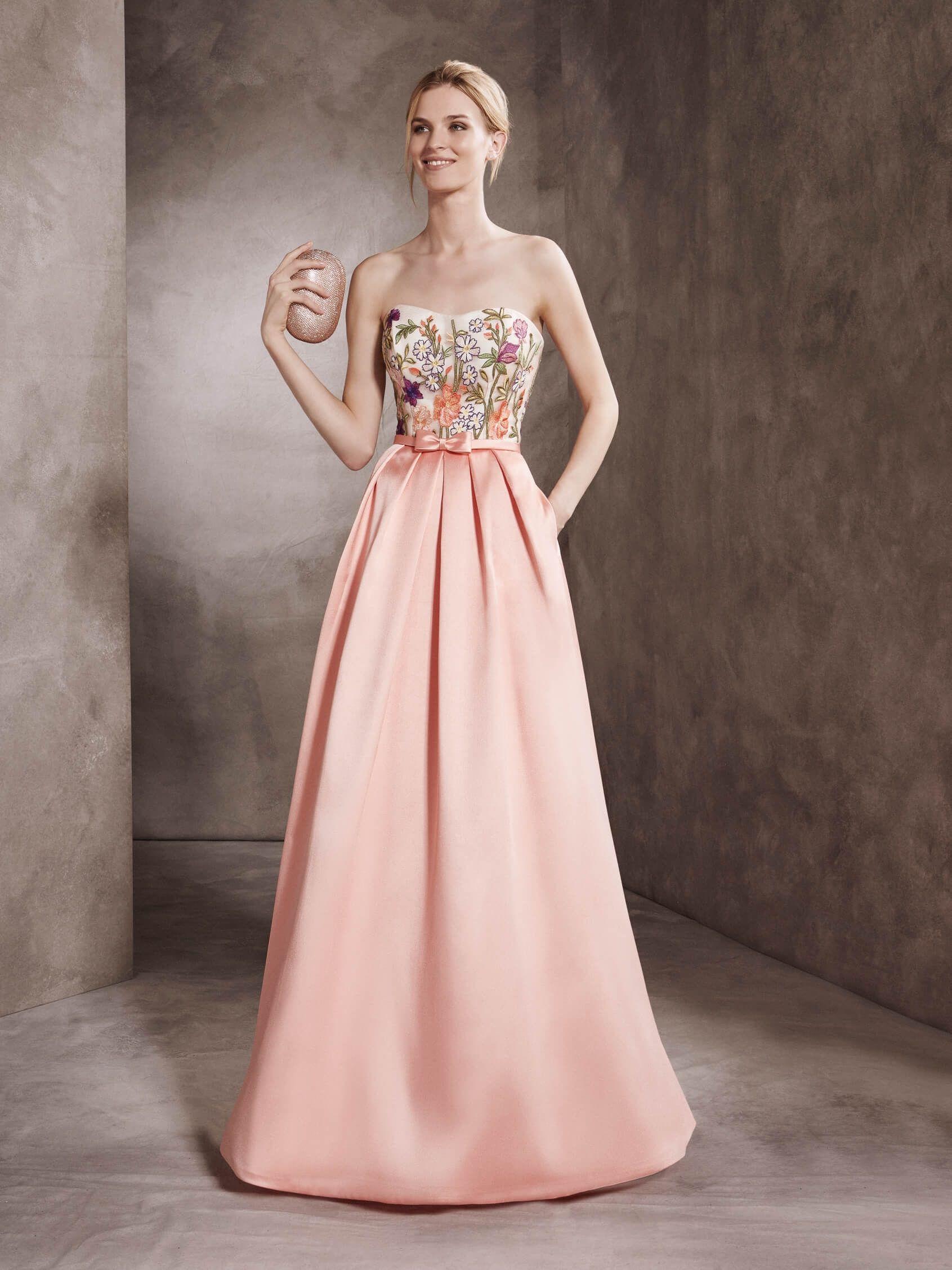 Vestido largo y rosa de St. Patrick Wedding-Guest Dresses | Vestidos ...