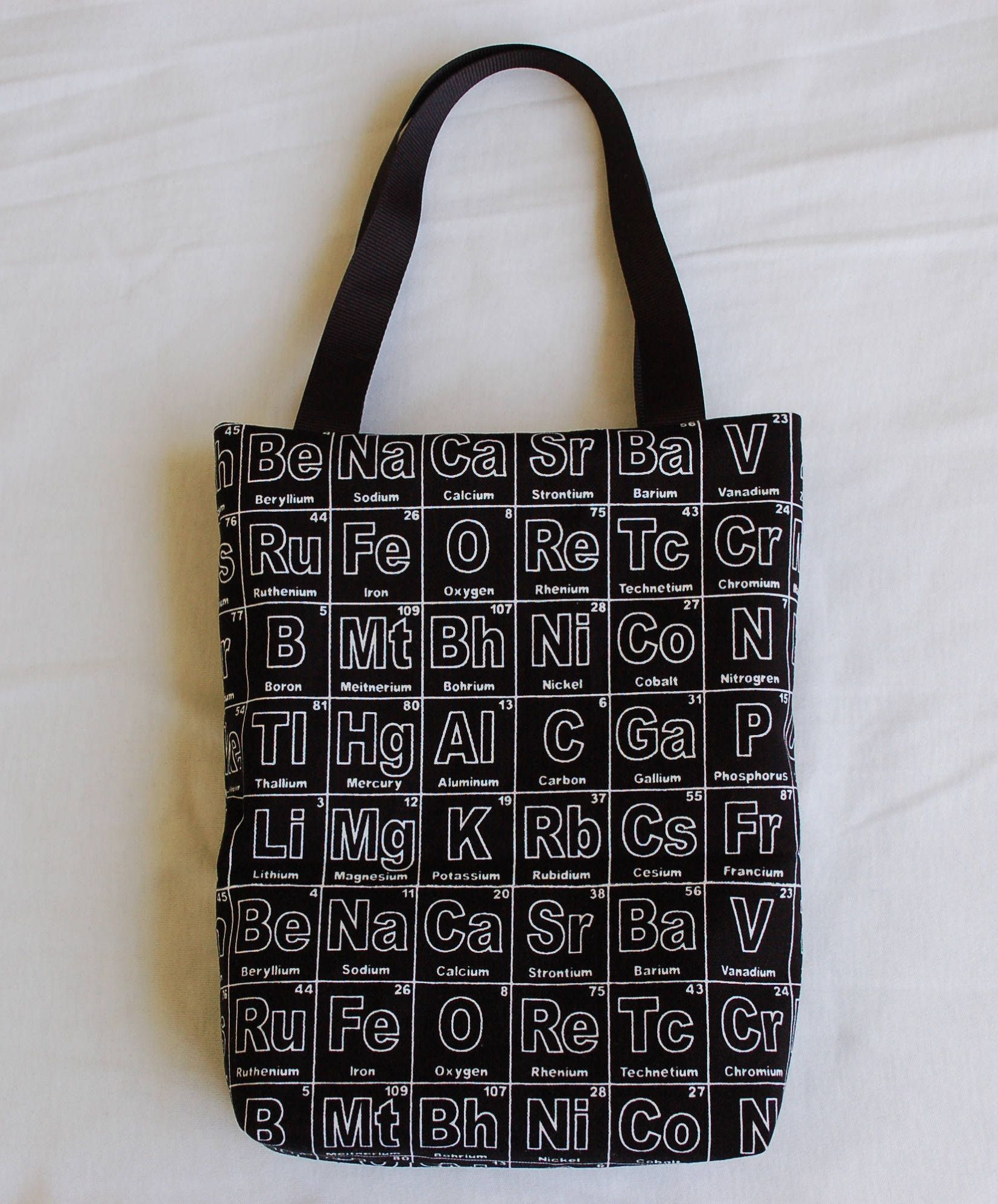 fabric gift bag periodic table of elements by zinniascloset on etsy - Periodic Table Fabric