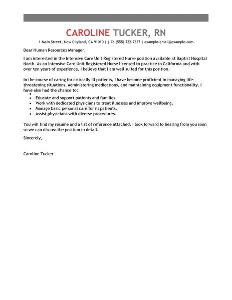 Big Standard Intensive Care Unit Registered Nursecover Letter