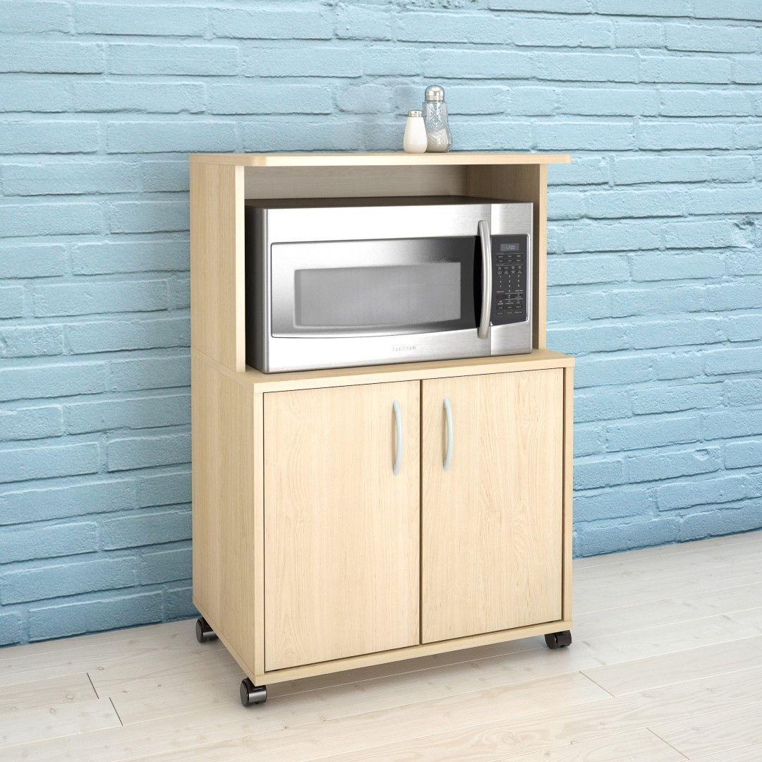 Nexera 599 2-Door Mobile Microwave Cart, Natural Maple | Pinterest ...