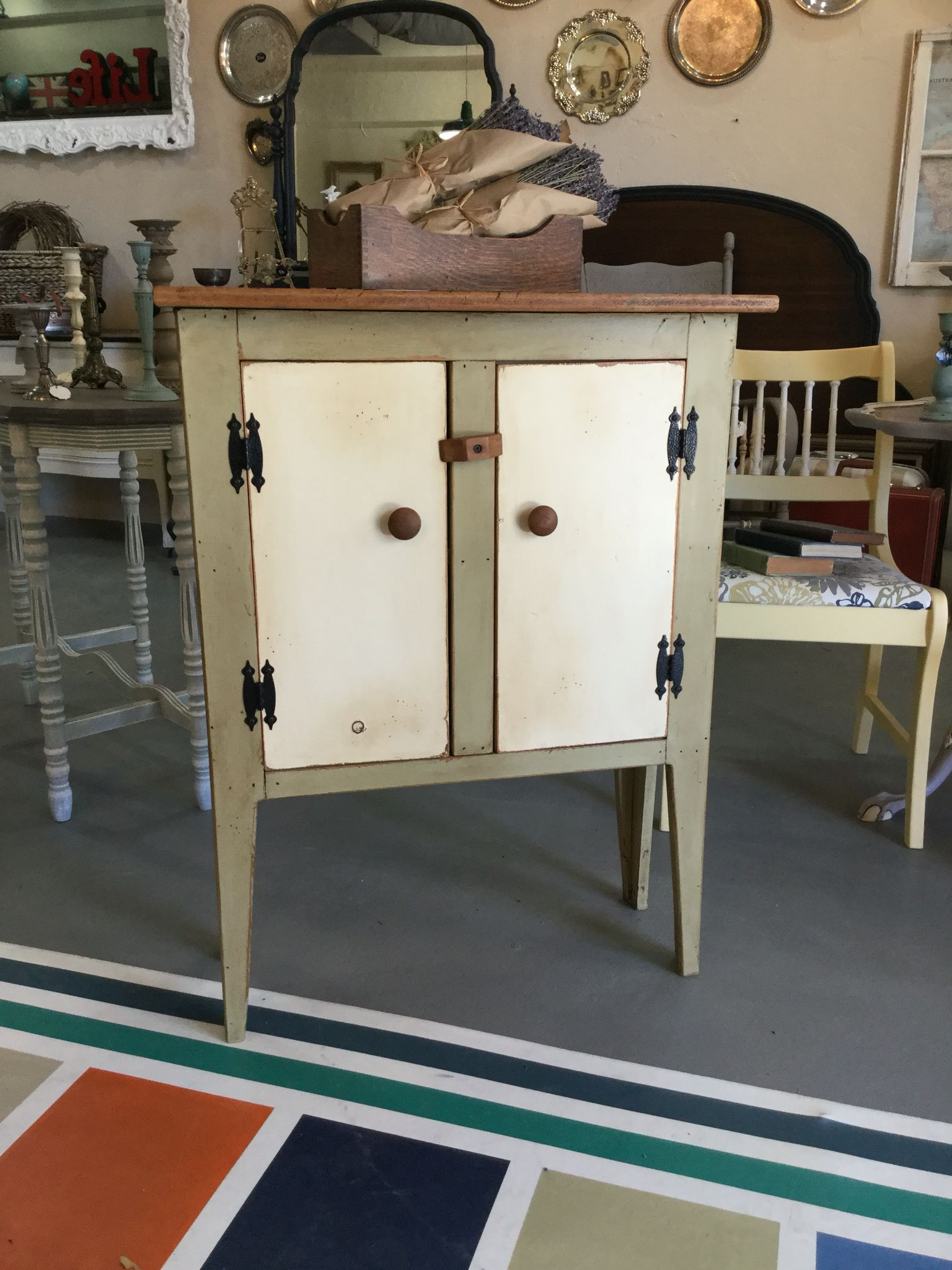 Primitive Cabinet Painted With Chalk Paint By Annie Sloan In