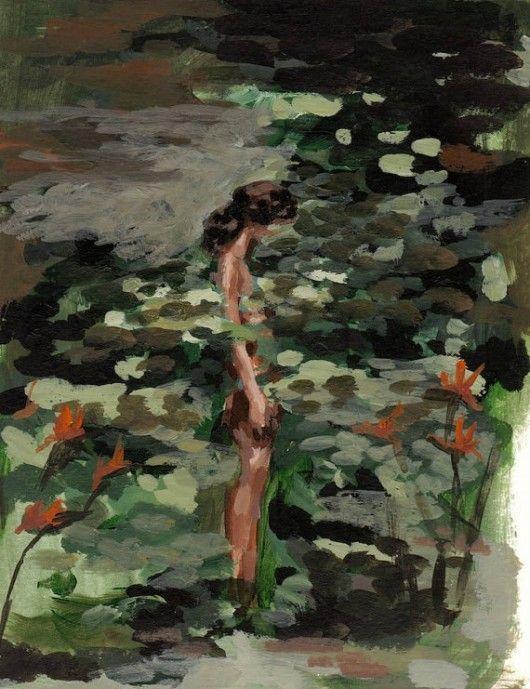 Clara Elsaesser dipinge varie scene del quotidiano, dalla solitudine alla compagnia. E in più ritrae donne che diventano Fate, provate a vedere!