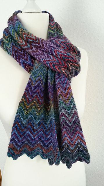 Ravelry Knispeltantes Zick Zack Scarf Crochet Yarn And Project