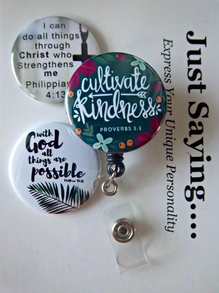 I can do all things Through Christ work Badge Retractable Reel ID Holder nurse