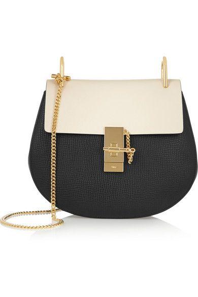 7070dcfc8f6c5 FOR STYLE INSPIRATION || Chloé Drew medium beige & black textured-leather  shoulder bag || NOVELA BRIDE...where the modern romantics play & plan the  most ...
