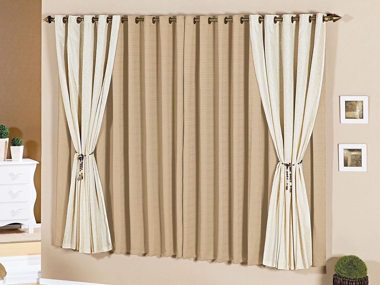 Cortina para quarto sala 200x170cm loren a criativa for Modelos de cortinas para salon