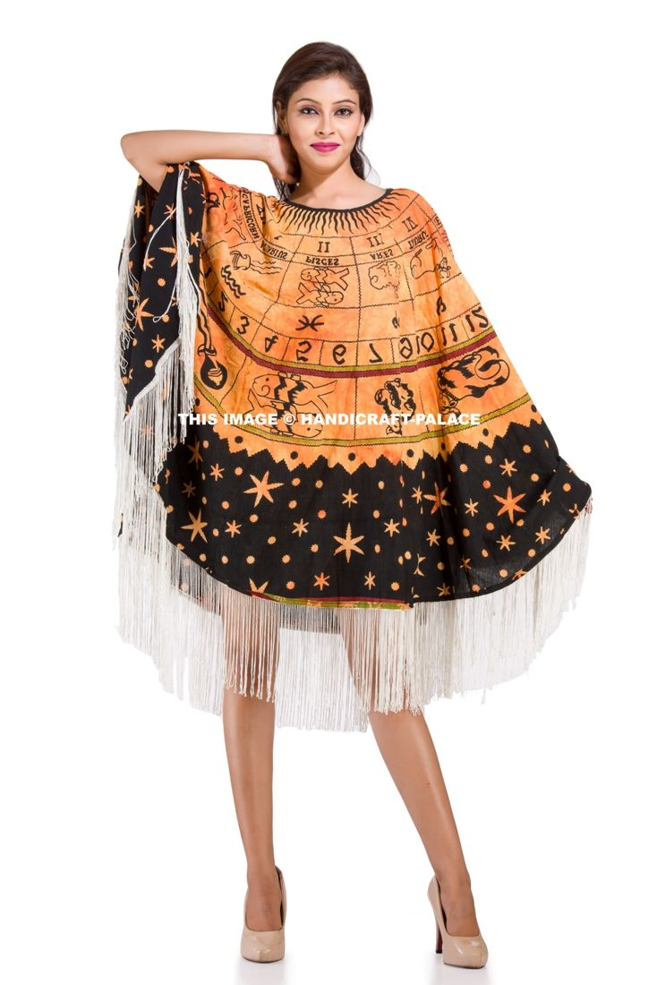 403358e18775c Astrology Mandala Poncho for Women  Horoscope Zodiac sign mandala ...