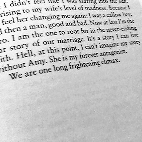 """""""We are one long frightening climax."""" #GoneGirl"""