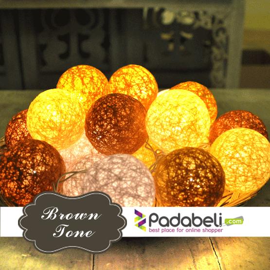 Pin Di Cotton Ball Light Cotton Ball String Jual Beli Online Murah Indonesia