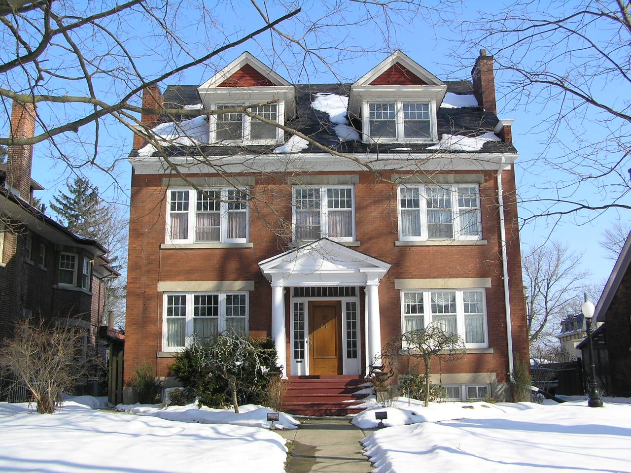 Two large dormers not aligned with windows home for Colonial home styles guide