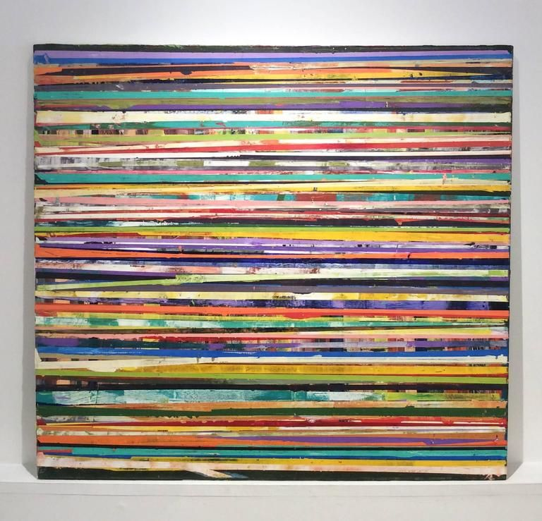 Vincent Pomilio 98 Horizon Lines Modern Colorful Abstract Painting Of Horizontal St Colorful Abstract Painting Abstract Painting Painting Horizontal Stripes