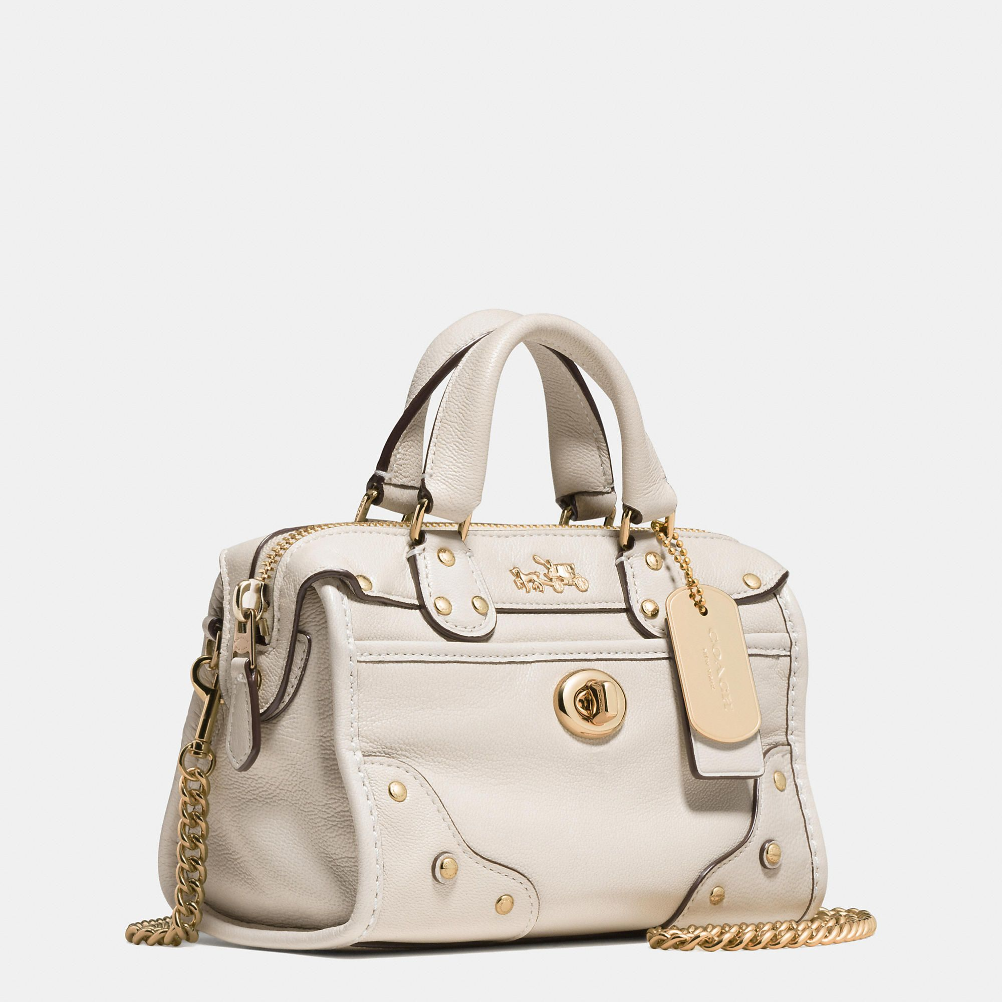 7c3eebb7326f ... best teeny tiny coach designer handbag rhyder satchel 18 in soft grain  leather f6c66 dba13