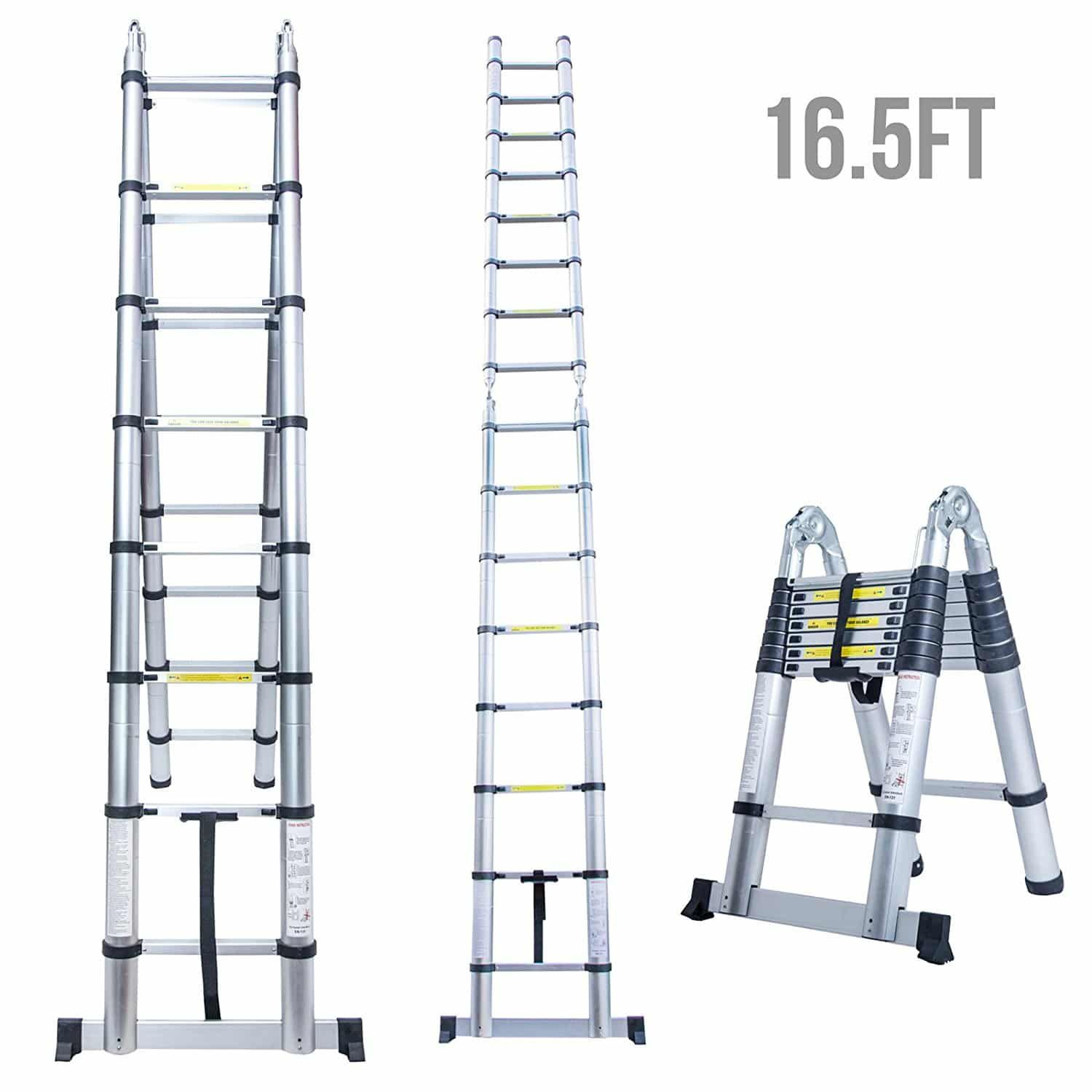 Top 10 Best Aluminum Telescoping Ladders In 2019 Reviews Multi Purpose Ladder Telescopic Ladder Ladder