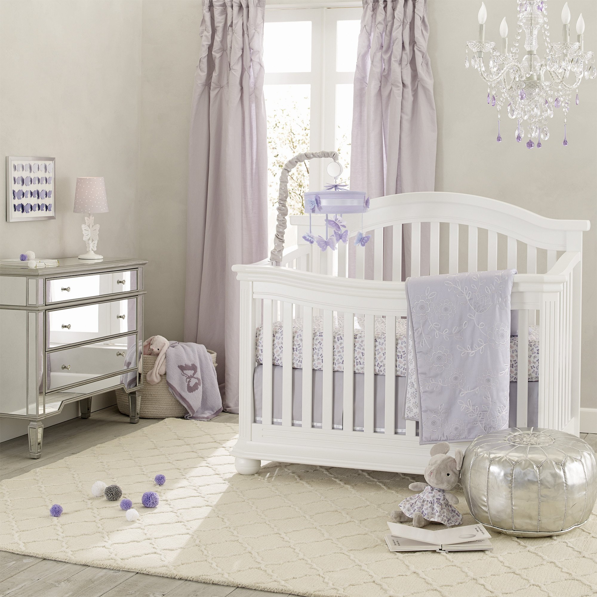 Signature French Lavender 4 Piece Crib Bedding Set Purple Crib