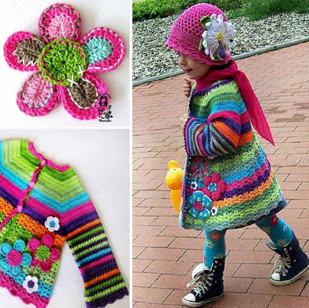 Crochet Girls Coat A Gorgeous Free Pattern | Pinterest | Häkeln ...