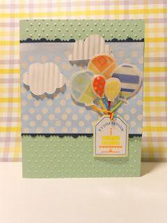 L.E. Paper Studio: Balloons Happy Birthday Card