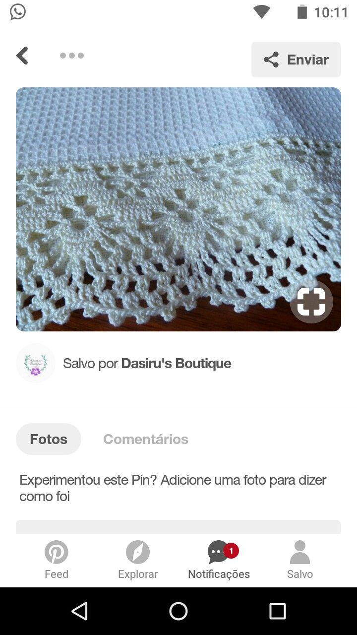 Pin de Luz Rios en puntaS | Pinterest | Ganchillo, Tejido y Puntas ...