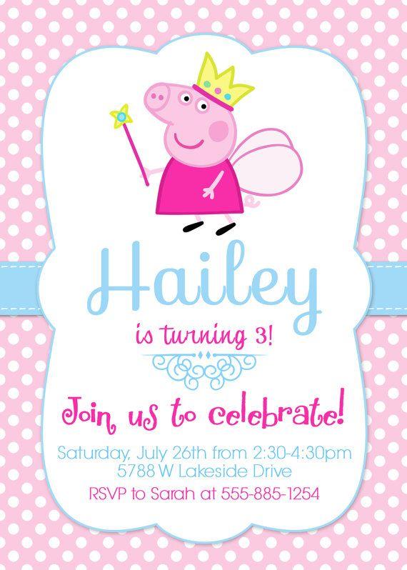 Peppa Pig Invitation Peppa Invite Peppa Pig By Lovelydivine9