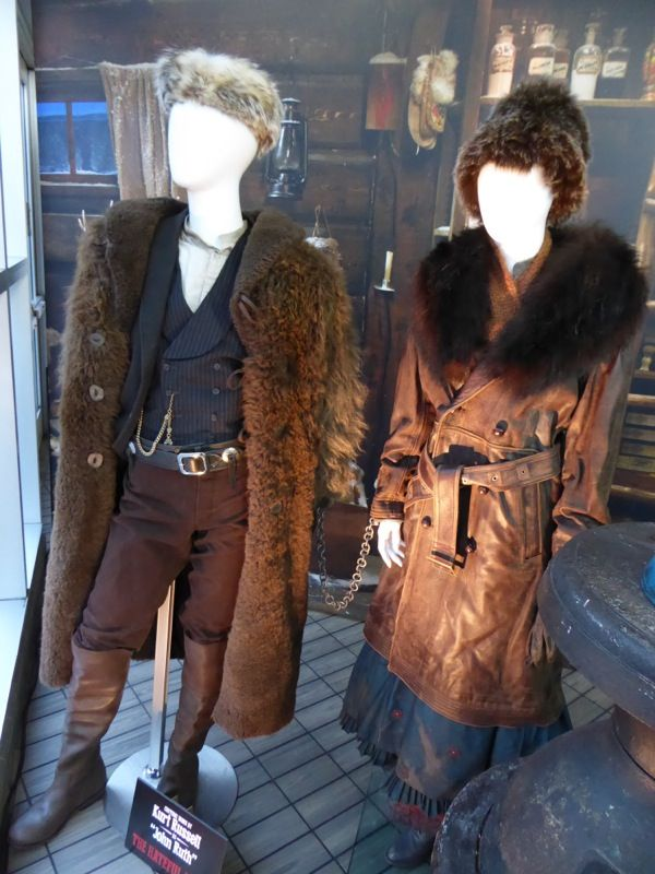 Up Close With The Hateful Eight Film Costumes Original Film Costumes And Props On Display The Hateful Eight Western Costumes Movies Outfit