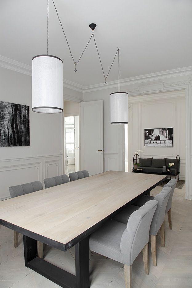 Marcel Renault LES CURIEUSES Kitchen Dining Room - Table billard salle a manger pour idees de deco de cuisine