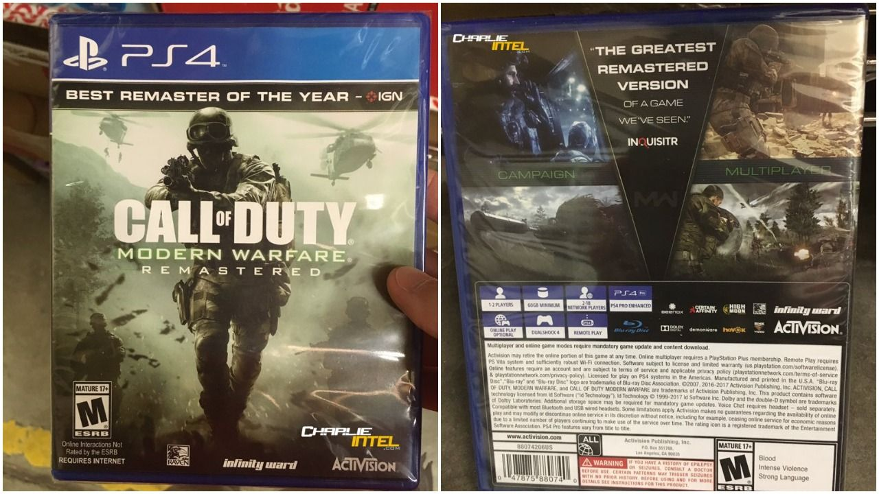 Official Case For A Standalone Version Of Call Of Duty Modern Warfare Remastered Has Been Revealed Release Date May Be Ar Call Of Duty Modern Warfare Warfare