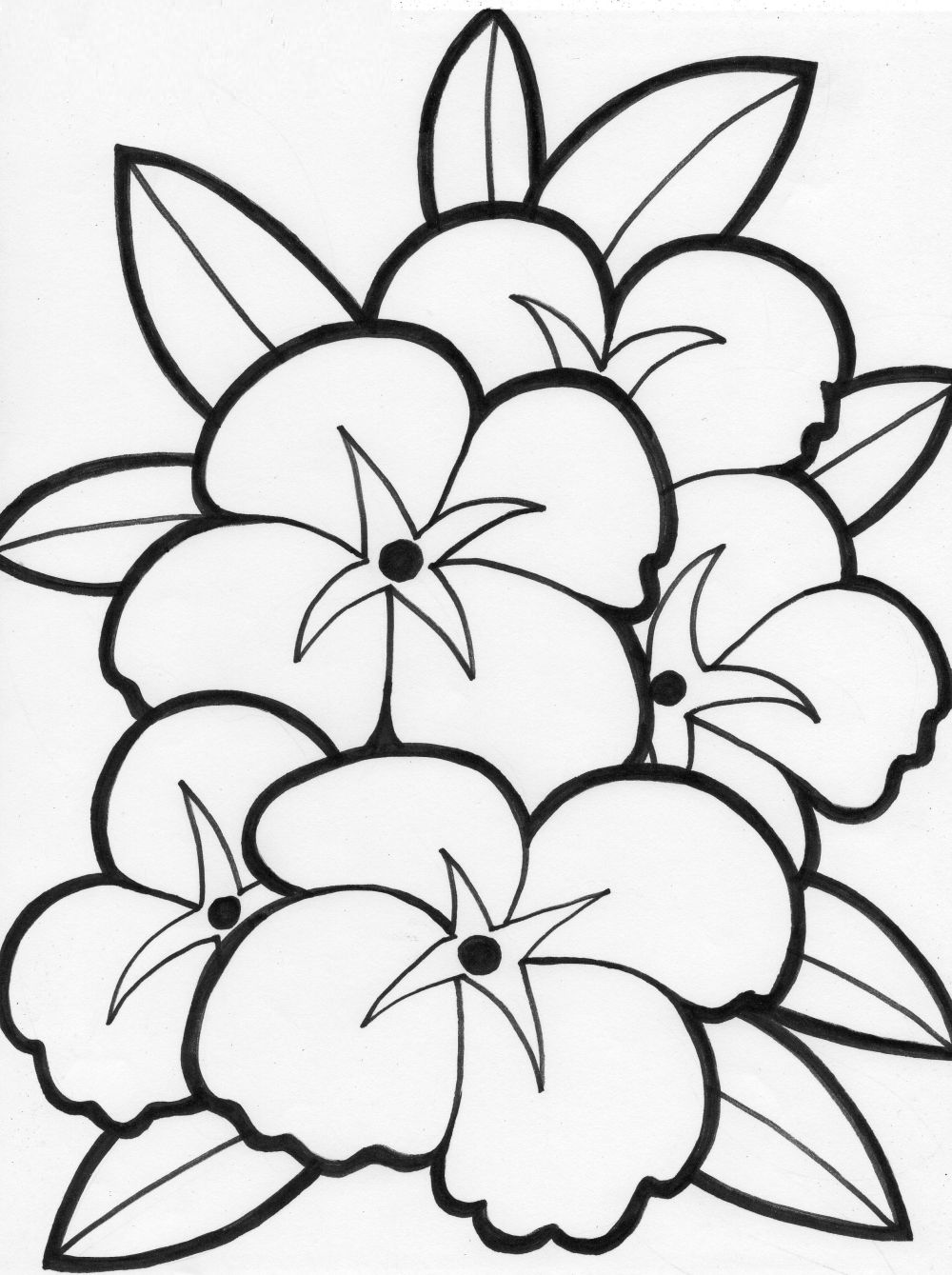 Cute Printable Flower Coloring Pages