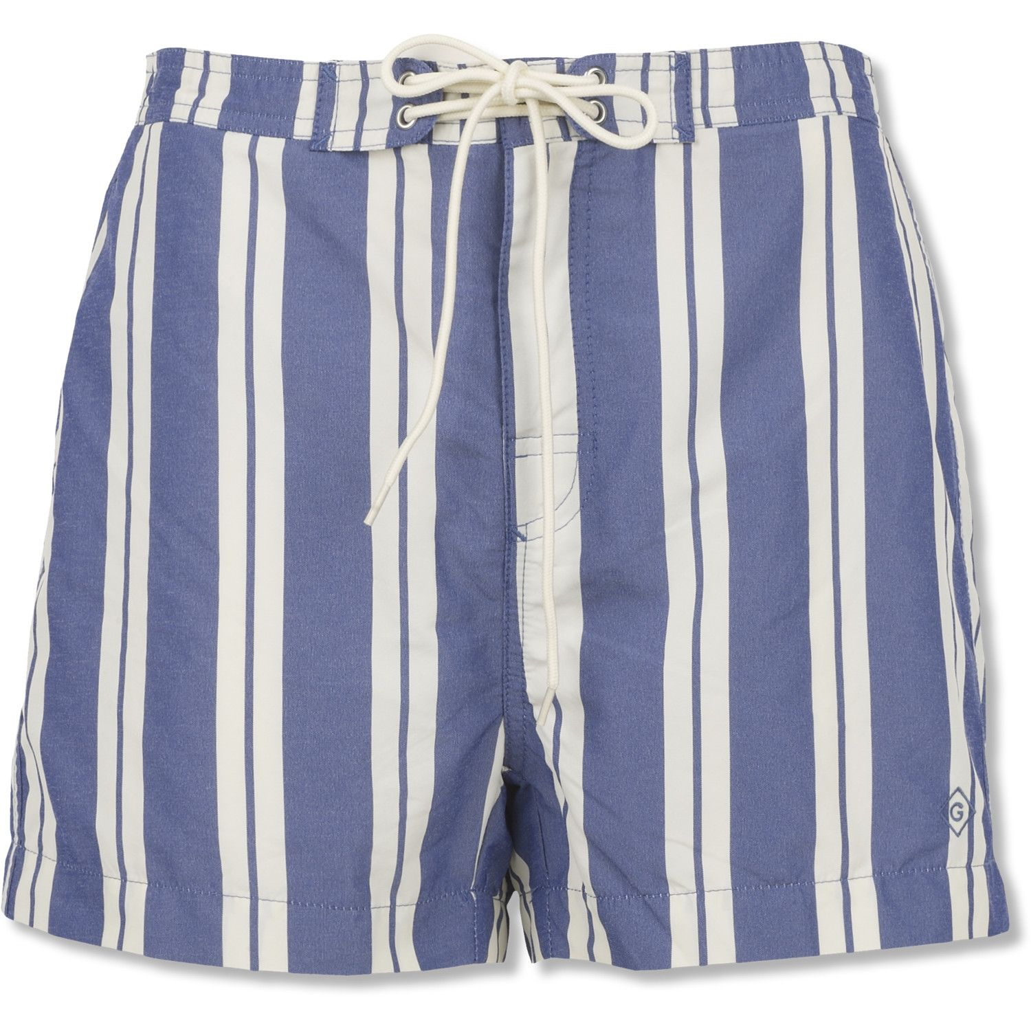 d70c8c886 Blue-and-white vertical striped swim trunks | Swimsuits | Swimsuits ...