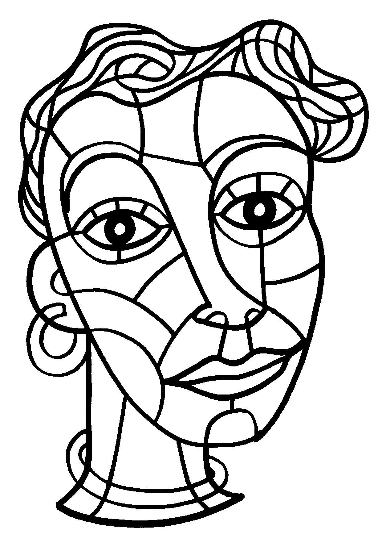 Coloriage visage femme fr d ric sochard retratos - Coloriage visage ...