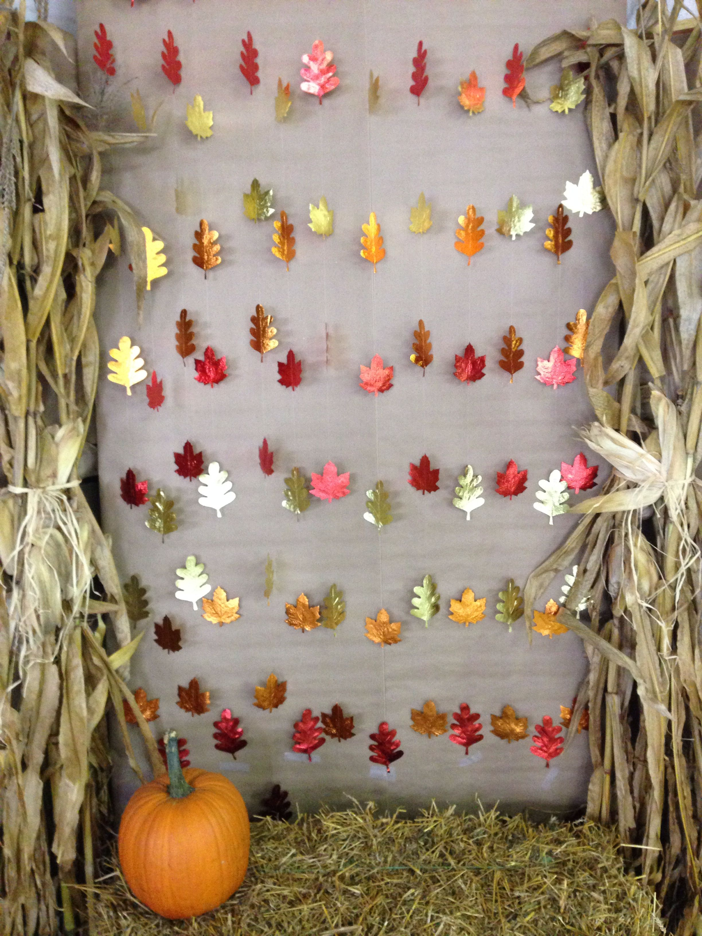 Diy fall photo booth backdrop for halloween or for Backdrop decoration
