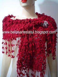 BELLAS ARTES TATUI  Cachecol Trico Pompom Mini Circulo  4656ce39f2e